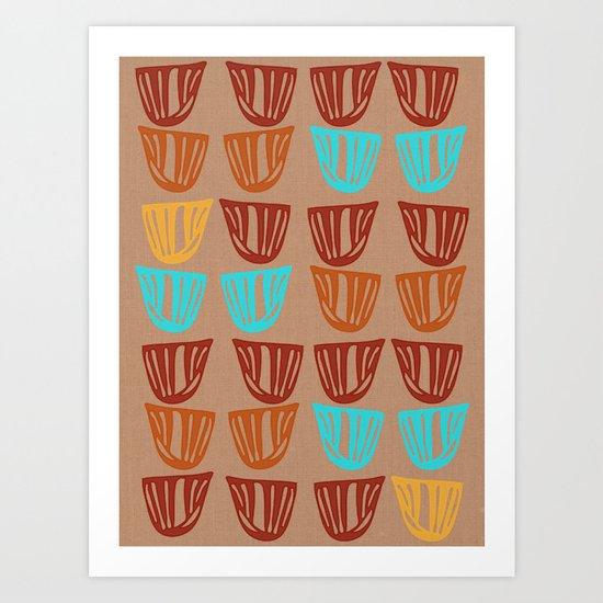 Vessels on Linen Art Print