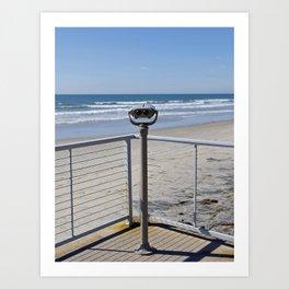 Beach lookout Art Print