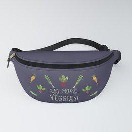 Eat more veggies! Dark version Fanny Pack