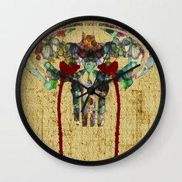 Watercolor Punisher Bat Wall Clock