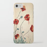 poppies iPhone & iPod Cases featuring Poppies by Megan Hunter