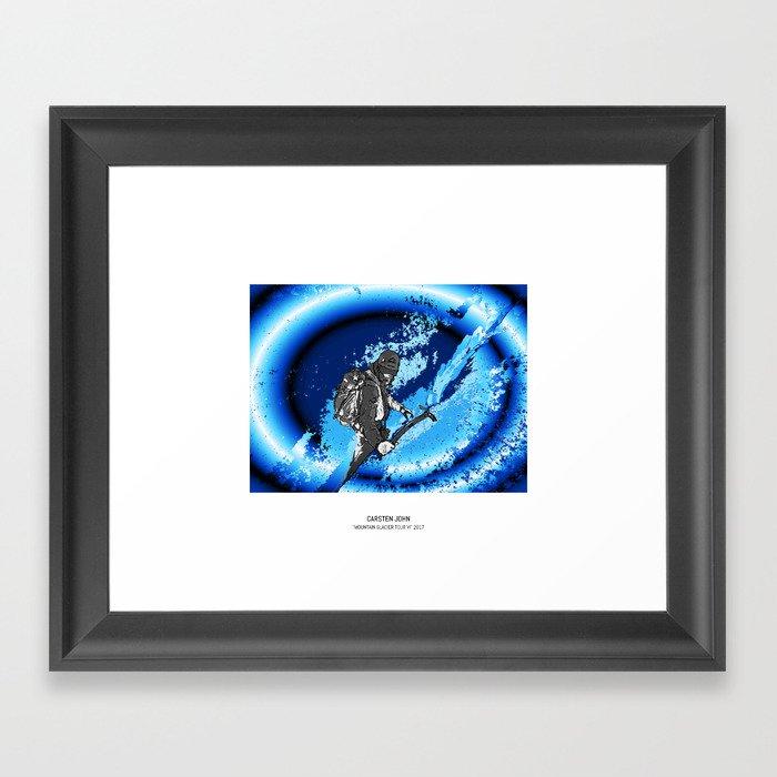 MOUNTAIN GLACIER TOUR VI Framed Art Print