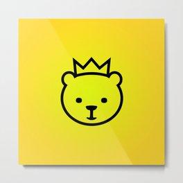 Berlin Bear. Mascot of Berlin Metal Print