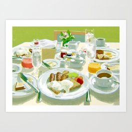 Breakfast at a Hotel Art Print