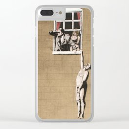 Banksy - Council Building, Bristol Clear iPhone Case