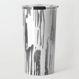 Modern Stripes Gray Travel Mug
