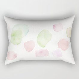 180807 Abstract Watercolour 10 | Colorful Abstract |Modern Watercolor Art Rectangular Pillow