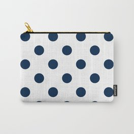 Polka Dots - Oxford Blue on White Carry-All Pouch