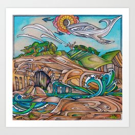 Of Sandstone, Waves, and Whales Art Print