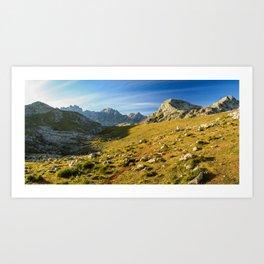 Sunrise over the Picos de Europa Art Print
