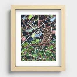 New Moon Recessed Framed Print