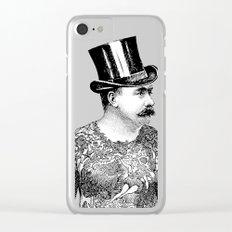 Tattooed Victorian Man Clear iPhone Case