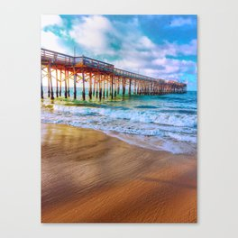 Waves on the Sand  Canvas Print