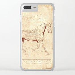 Da Vinci Horse: The Trot Revealed Clear iPhone Case