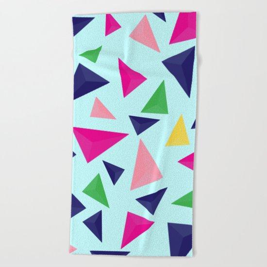 Colorful geometric pattern VIV Beach Towel