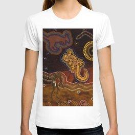 Desert Heat - Australian Aboriginal Art Theme T-shirt