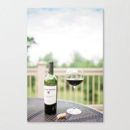 Wine on the Patio Canvas Print