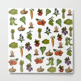 Vegetables Pattern Metal Print