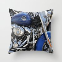 harley Throw Pillows featuring Harley by Veronica Ventress