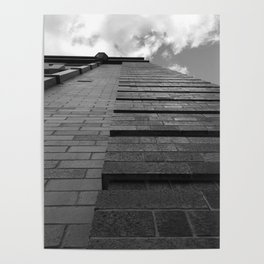 Vertical Brick Wall Architectural Photographic Print Poster