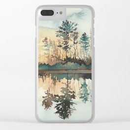 Tranquil Radiance Clear iPhone Case