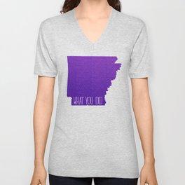 Arkansas What You Did Unisex V-Neck