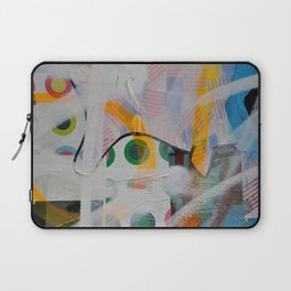 Some flags, circles & paint. Magic layers Laptop Sleeve
