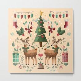 Vintage Holiday Christmas Jubilee Metal Print