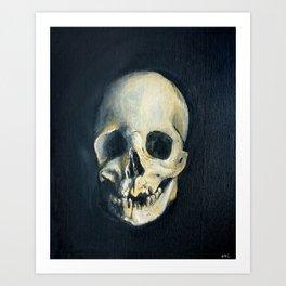 Human Skull Painting Art Print