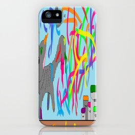 Artistic kitten  iPhone Case