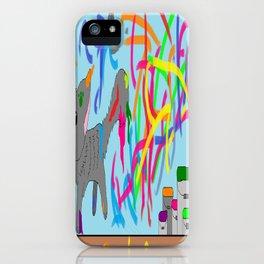 Artistic kitten  iPhone Case