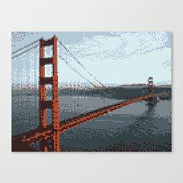 Golden Gate Bridge 8-Bit Canvas Print