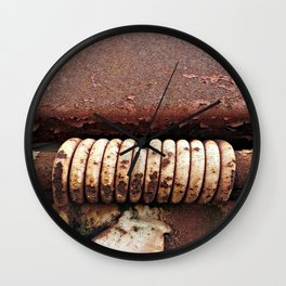 Rusty Rings Wall Clock