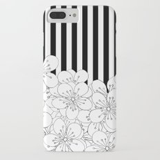Cherry Blossom Stripes - In Memory of Mackenzie iPhone 7 Plus Slim Case