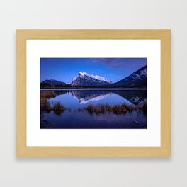 An Evening at Vermillion Lakes Framed Art Print