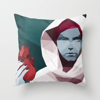 hunting Throw Pillows featuring HUNTING by ANDRESZEN