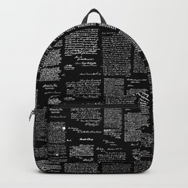 George Washington's Letters // Black Backpack