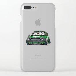 Crazy Car Art 0142 Clear iPhone Case