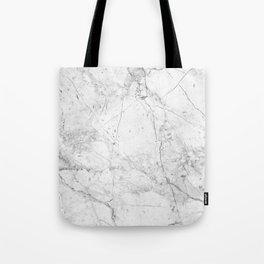 Nordic White Marble Tote Bag
