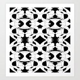 Black and White Tile 2 Art Print