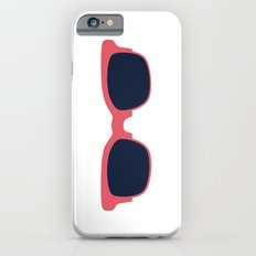 Teal Sun Glasses on White iPhone 6s Slim Case