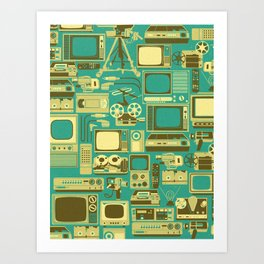 Retro technology Art Print