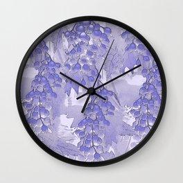 Blue grapes - abstract Wall Clock