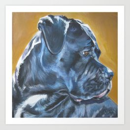 A Cane Corso dog portrait from an original painting by L.A.Shepard Art Print