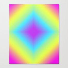 Diamond Rainbow Gradient Canvas Print