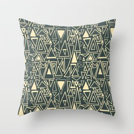 Chaotic Angles in Slate by Deirdre J Designs Throw Pillow
