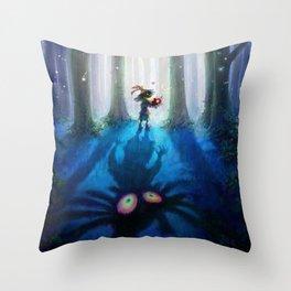 Forest Majora Throw Pillow