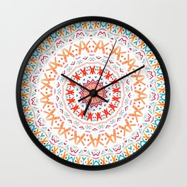FESTIVAL SUMMER MANDALA SUNSHINE Wall Clock