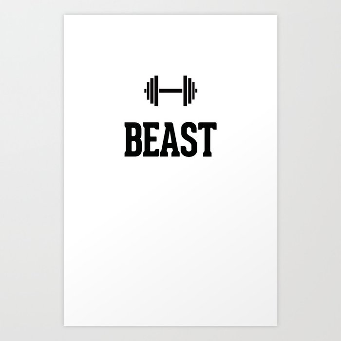 Beast Gym Dumbbell Art Print