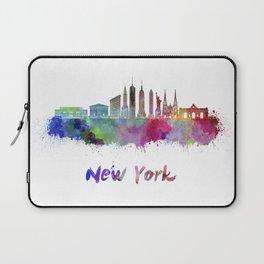 New York V3 skyline in watercolor Laptop Sleeve